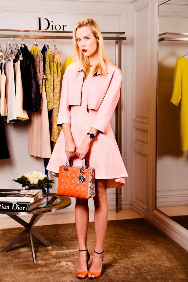 Dior dress and bag