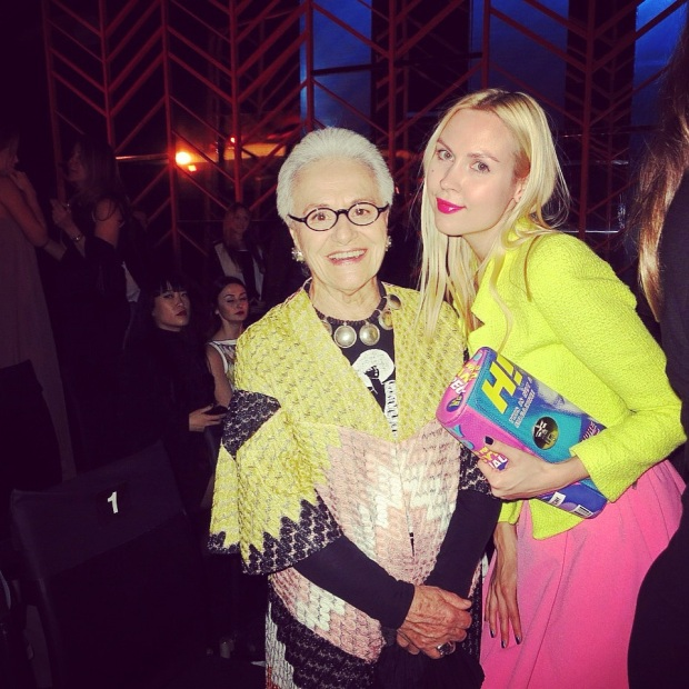 רוזיטה מיסוני ואירה סימונוב שבוע האופנה גינדי 22014