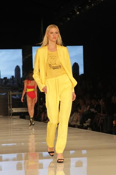 Gindi Fashion Week 2014 Gideon Karen Oberson Yellow Suit