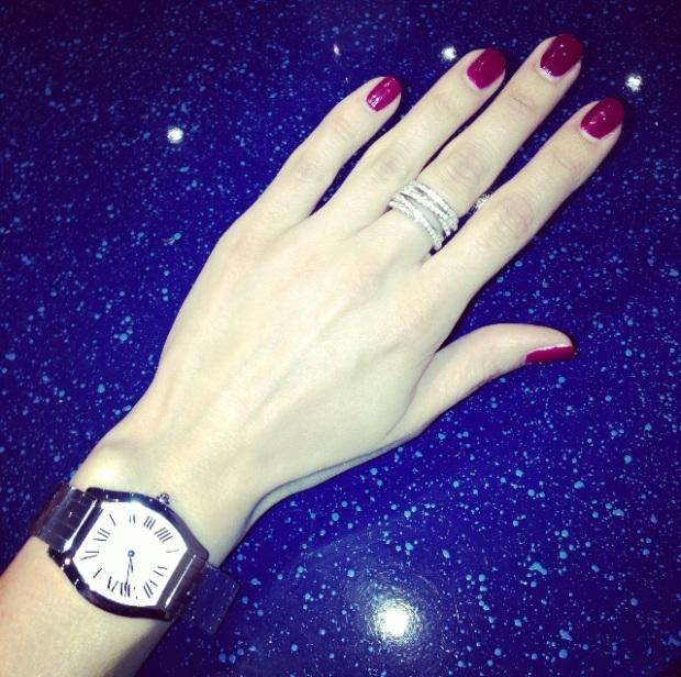 Ira Simonov wearing luxury watch by Cartier