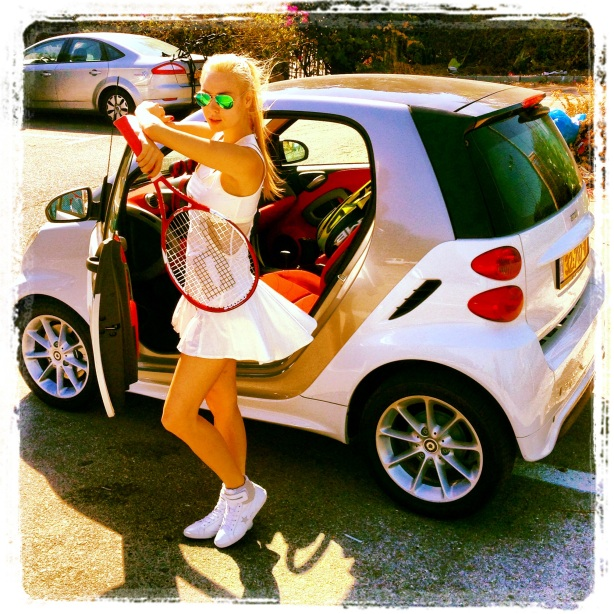 Ira Simonov Playing Tennis, Driving a Smart Car