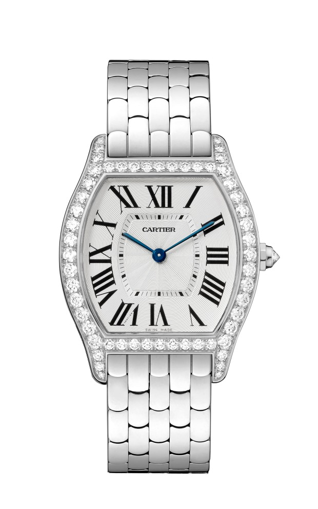 Cartier Tortue white gold with diamonds watch