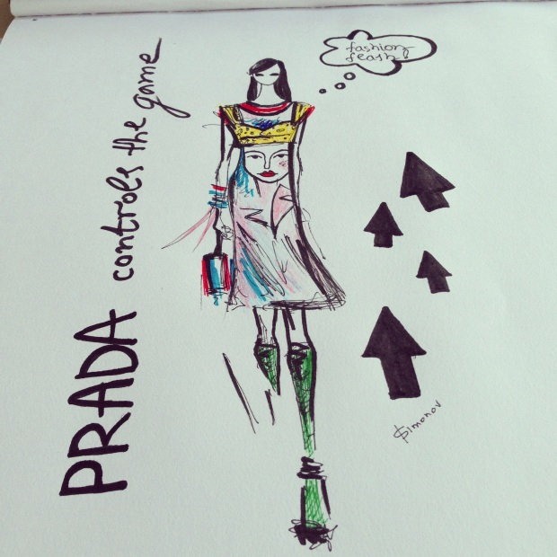 Prada sketch by Ira Simonov