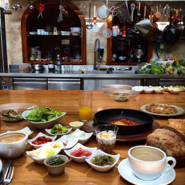 Israeli extravagant breakfast