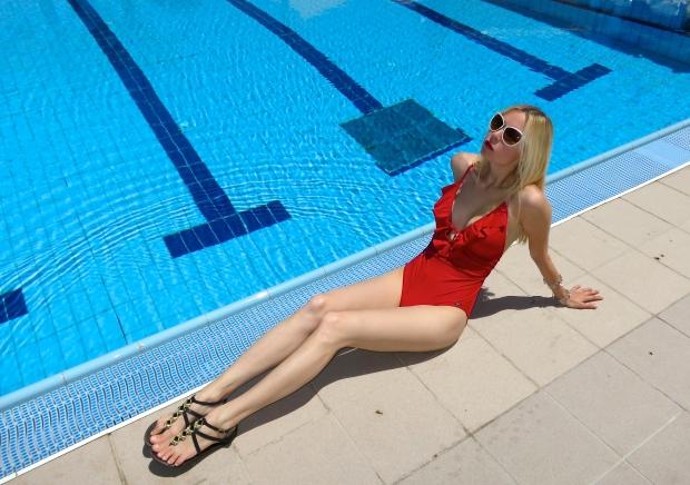 Cobra red swimsuit