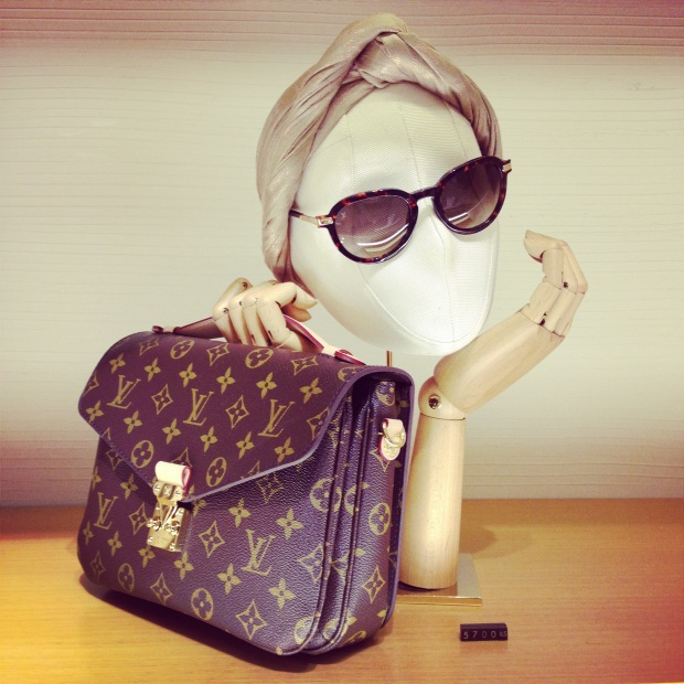 Louis Vuitton One Year Celebration Ira Simonov bag and sunglasses