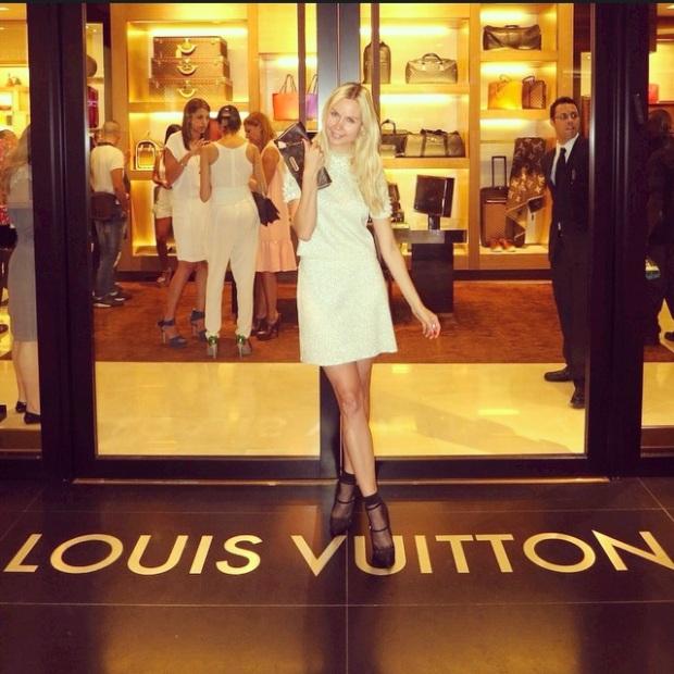 Louis Vuitton One Year Celebration Ira Simonov store front
